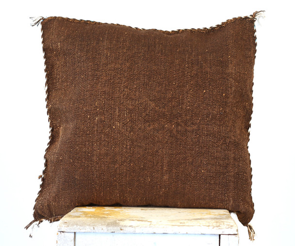 Moroccan BoHo Cactus Silk Vintage Style Cushion Covers  Choclate