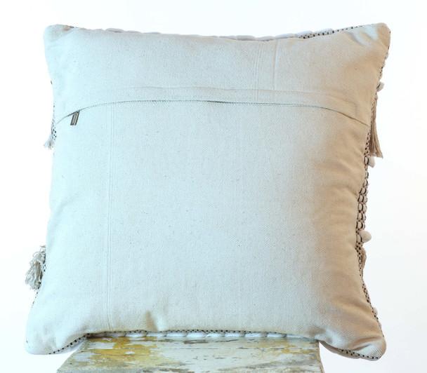 Cotton Shaggy 50 cm Hand Loomed Cushion Cover