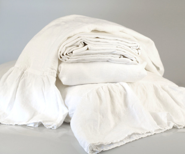 100% french linen sheet sets with 2 x pillow cases. Queen size .Mermaid Tail Angel white Yummy Linen