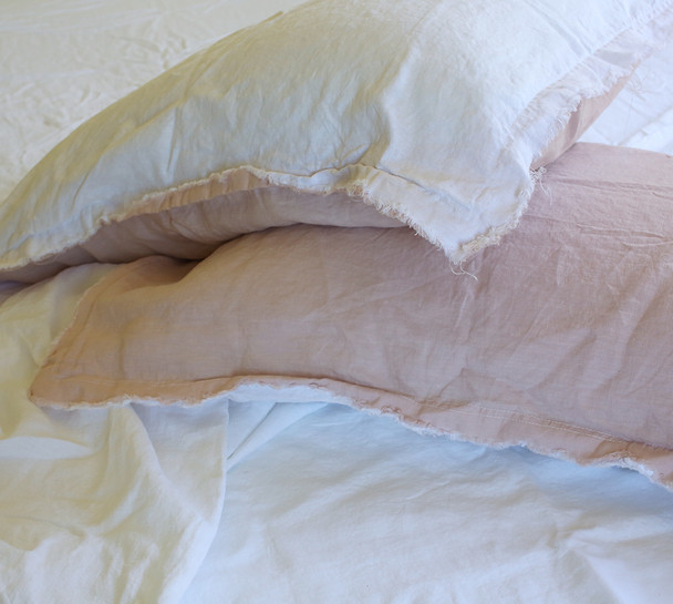 French Flax Linen White Sheet Set Queen size