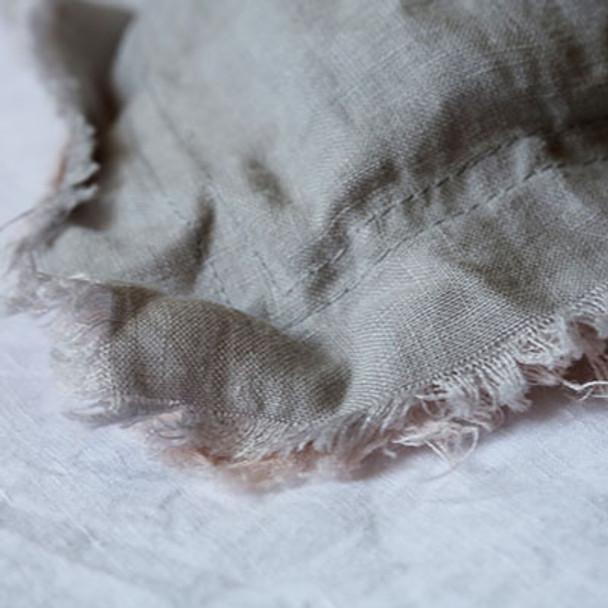 Linen Pillowcases - Farmhouse Vintage Frayed Edge Pillowslips x 2
