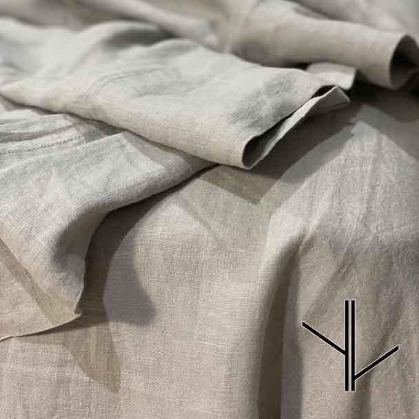 Dove Grey Linen top sheet.