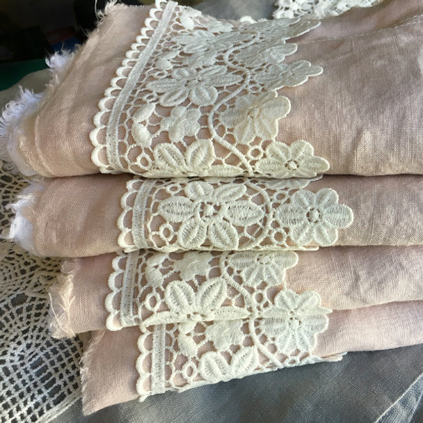 Pink linen and lace