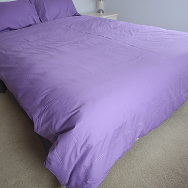100% Organic Cotton 650 Count Queen Quilt Set- Lilac- Yummy Linen
