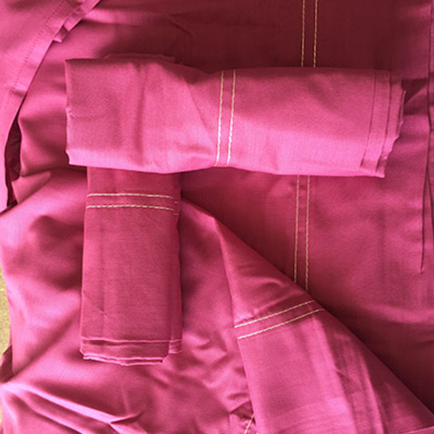 100% Organic CottonBedding- King Size- Duvet Set- Hot Pink