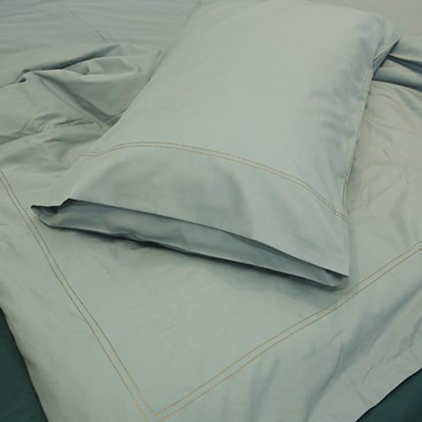100% Organic Cotton Bedding- Super King Size- Duvet Set- Seagrass