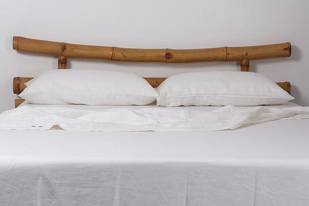 Linen Sheets Australia - King Size White Bed Sheets - Yummy Linen