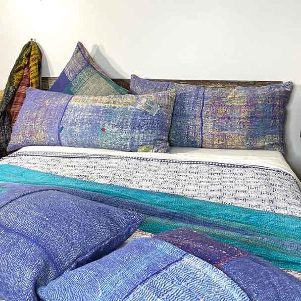 Vintage Sari Body Pillow 50 x 100 cm