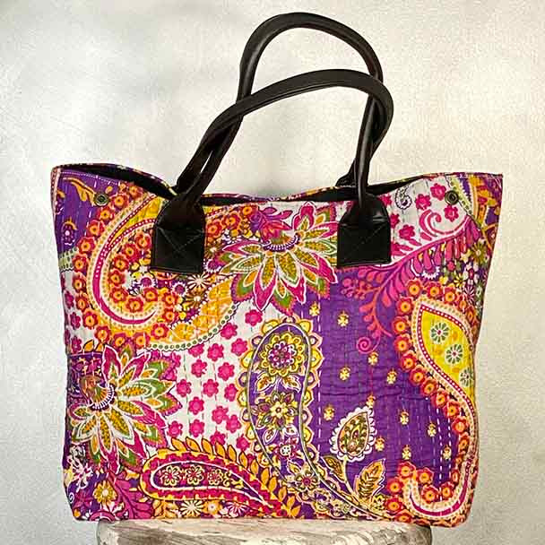 Kantha Tote Bags Eco Shopping Bags - Yummy Linen