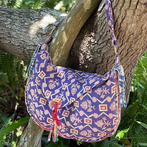 Boho Hippy Vintage Kantha Handbag