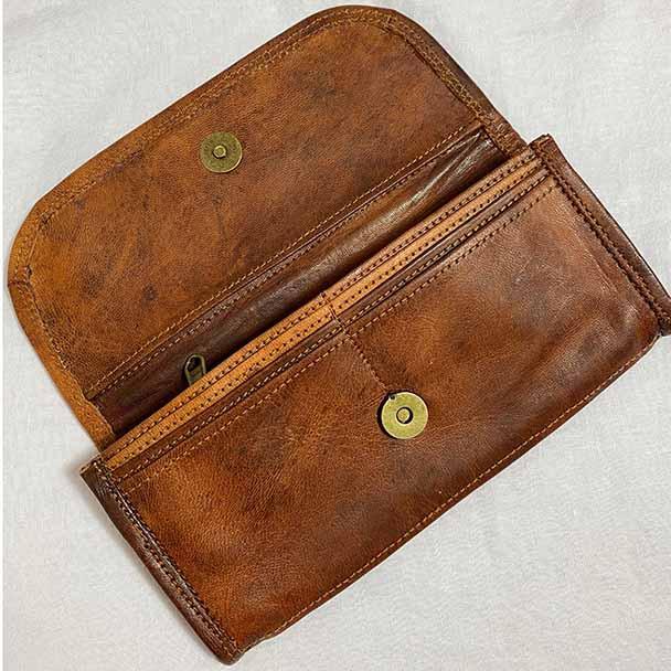 Genuine Leather Wallets - Ladies - Plain