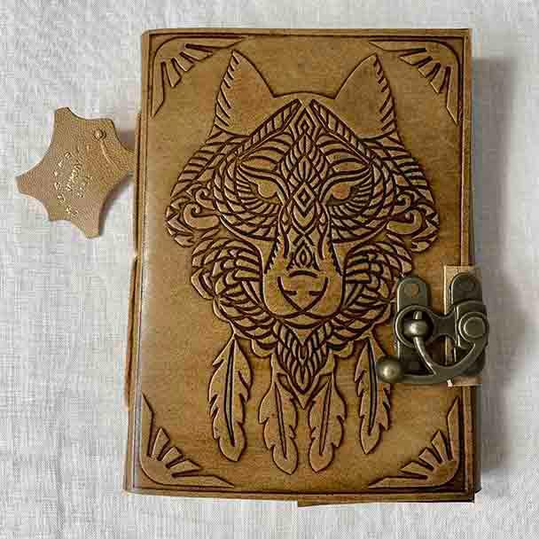 Wolf Pure Spirit Leather Artisan Journal