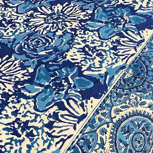 Yummy Linen Cotton Tablecloth Australia 230 x 153cm -Indigo