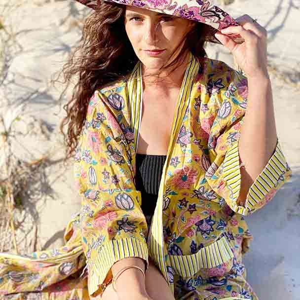 Cotton Light Weight Robes Bohemian Floral Designs Free Size XL