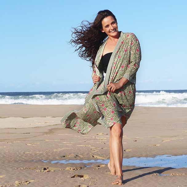 Cotton Kimono Boho Beach Robe - Spring - Yummy Linen