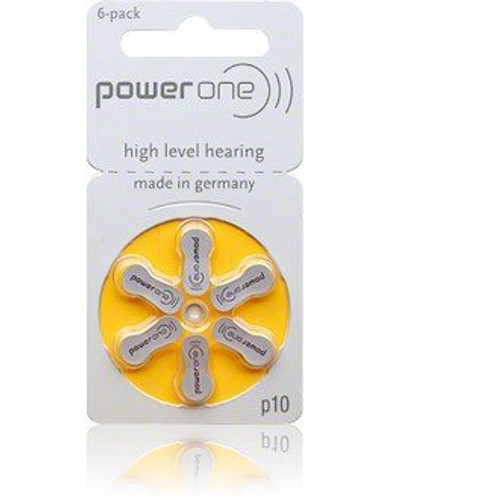 Hearing aid batteries from Power One are among the world's top-selling batteries.