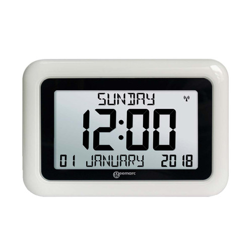 The clock features a Large 8″ LCD display, non-abbreviated display of Day, Date, Month and Year, as well as versatility in mounting options. These features ensure that you are never too far away from being able to accurately read both time and date.
