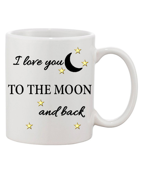 I Love You to the Moon and Back Ceramic Coffee Mug/Mother's Day or any occasion!