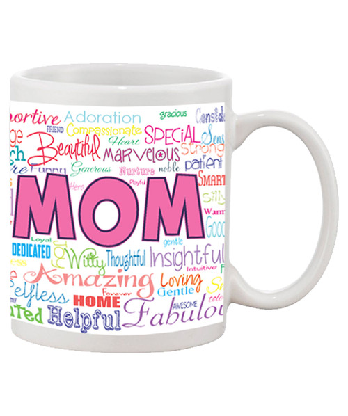 Mom Collage...with everything that MOM is Allover Printed Ceramic Coffee Mug!!