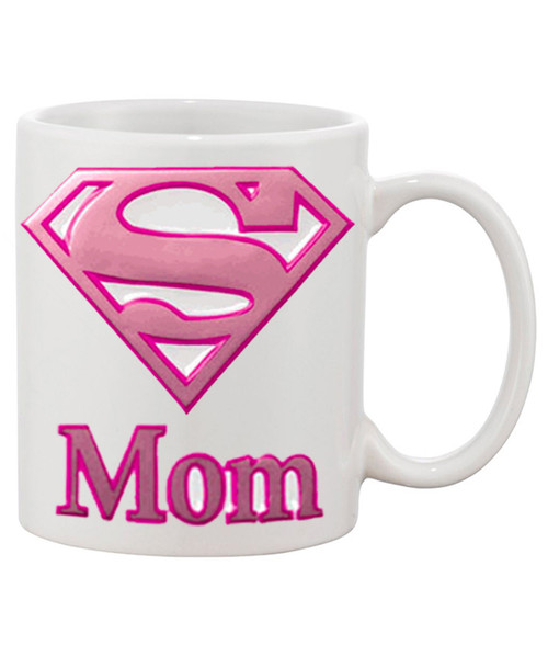 Super Mom (Mother's Day Ceramic Coffee Mug) Face It She's Super All The Time!!