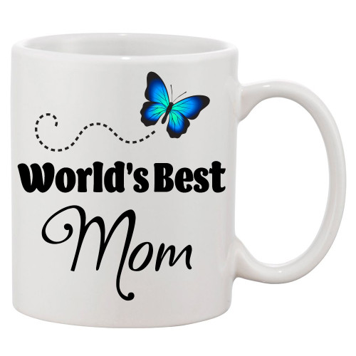 World's Best Mom Ceramic Coffee Mug - She Is The Best!
