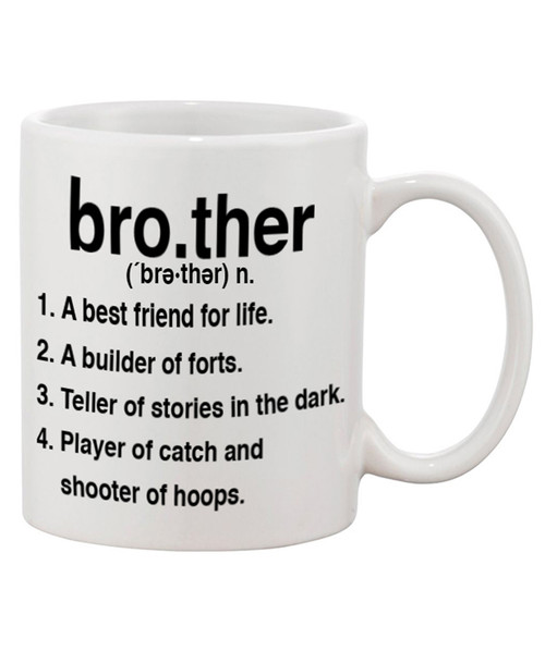 Brother Definition Ceramic Coffee Mug - This is What a Brother's All About