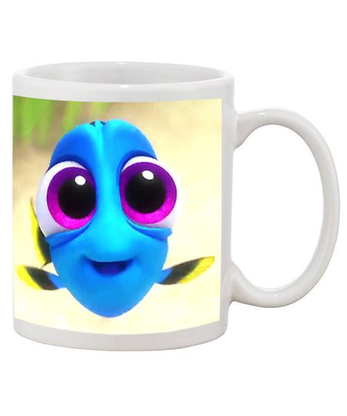 Custom Personalized Baby Dory Cute Ceramic Coffee Mug / Just keep Swimming Full Wrap Mug