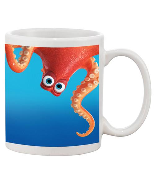 Dory/ Nemo inspired Octopus Ceramic Coffee Mug - Full Wrap Cute Mug