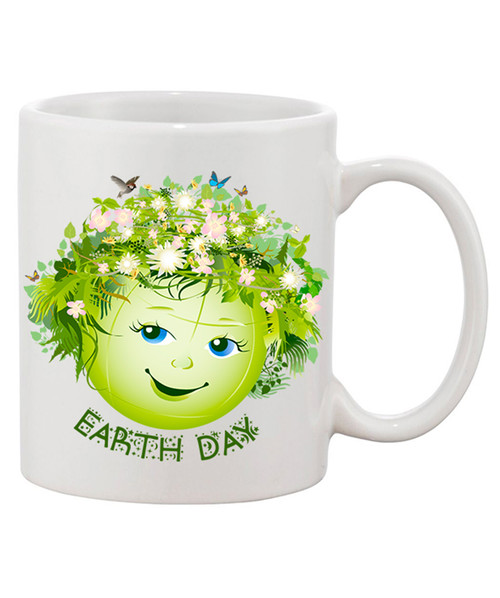 Earth Day Stunning  Mug / Flowers, Butterflies, Birds
