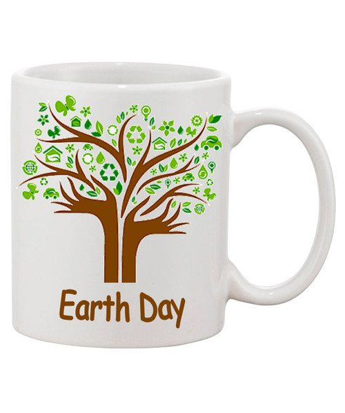 Earth Day Mug / Hands Extend into A Beautiful Tree