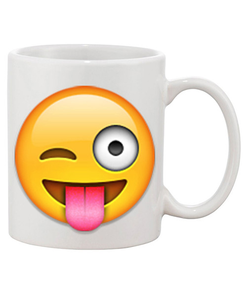 Custom Personalized Emoji Ceramic Coffee Mugs / Express Yourself with the Emoji of Your Choice