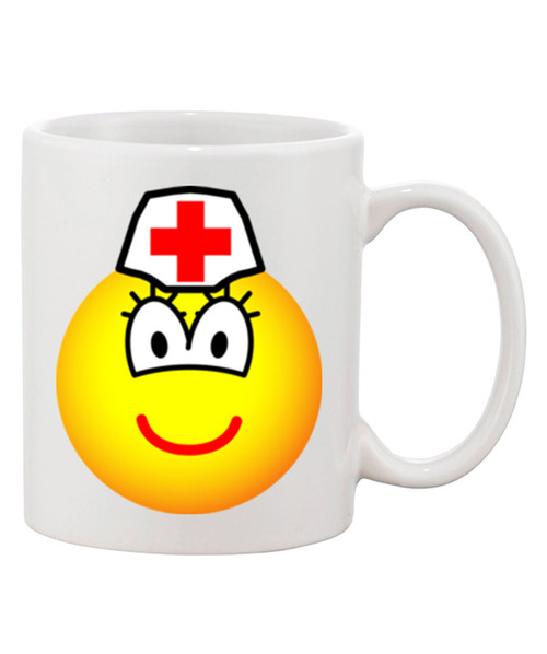 Emoji Nurse Cute Ceramic Coffee Mug Tells it All in a Cute Way