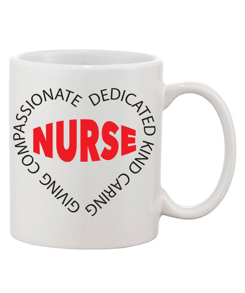 Nurse In a Heart of Words Coffee Mug