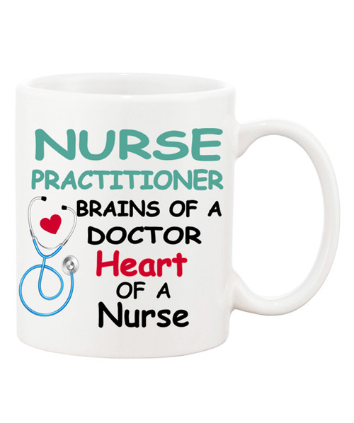 Nurse Practitioner / Brains of a Doctor/Heart of a Nurse Mug