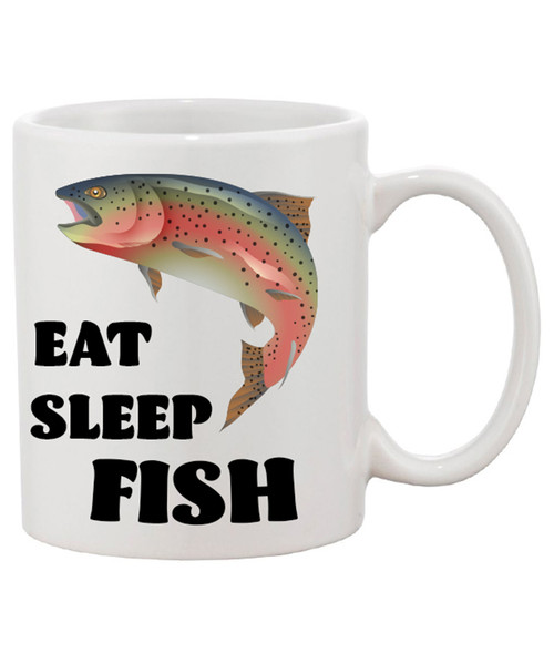 Eat Sleep Fish Ceramic Coffee Mug...Isn't That What Life's All About!