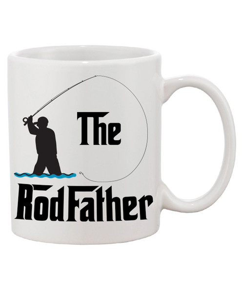 The Rod Father Ceramic Coffee Mug / Show them who the father of all fishing is!