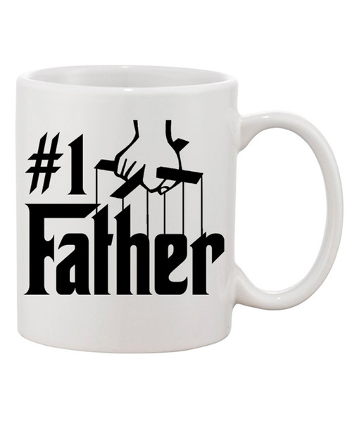#1 Father / Ceramic Coffee Mug/Godfather Style Lettering|Yo Dad I Love Yu
