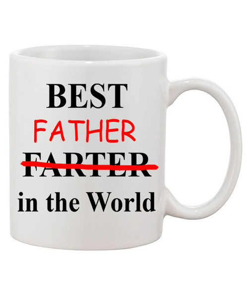 Best Farter/ Father in the World Funny Ceramic Coffee Mug