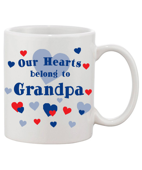 Our Hearts Belong To Grandpa Ceramic Coffee Mug
