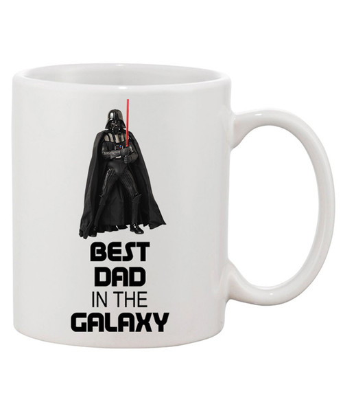 Best Dad in the Galaxy Ceramic Coffee Mug / Father's Day Mug or any Day, Show Dad You Care