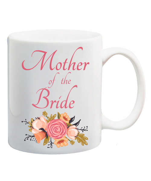 Mother of the Bride Mug /Bouquet of Flowers/Wedding Gift