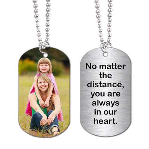Dog Tags Custom Personalized - 2 Sided w/ your Picture, Name, Logo, School