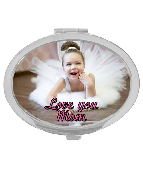 Compact Makeup Mirror Custom Personalized w/ Your Own Design /Picture / Text|