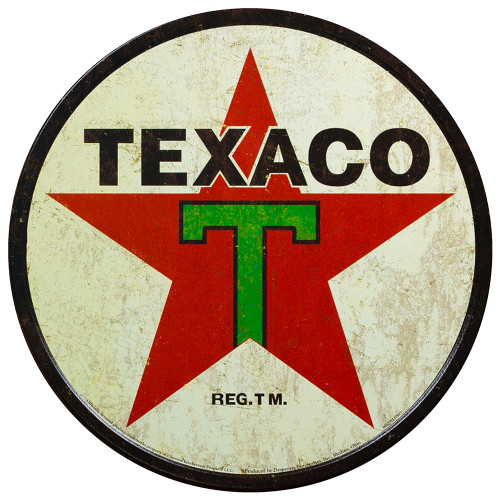 Vintage Texaco Gasoline (Replica) /Aluminum Panel Wall Decor