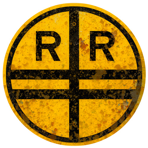 Vintage RailRoad Sign (Replica) /Aluminum Wall Decor Round Sign