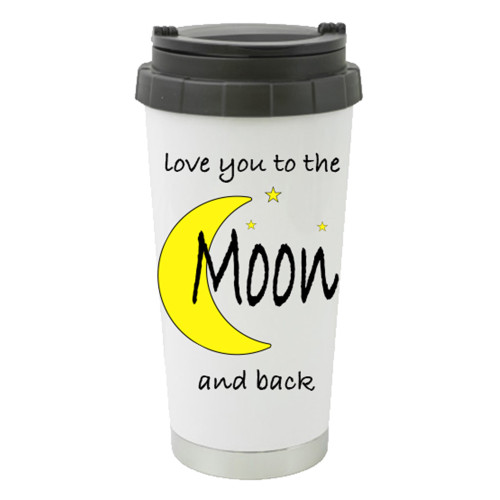Travel Mug -Love You to the Moon and Back with Bight Moon and Stars