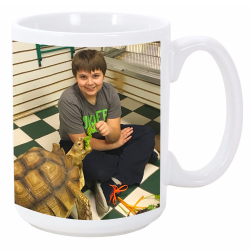 Custom / Personalized 15oz White Mug - Add your Photo's / Logo