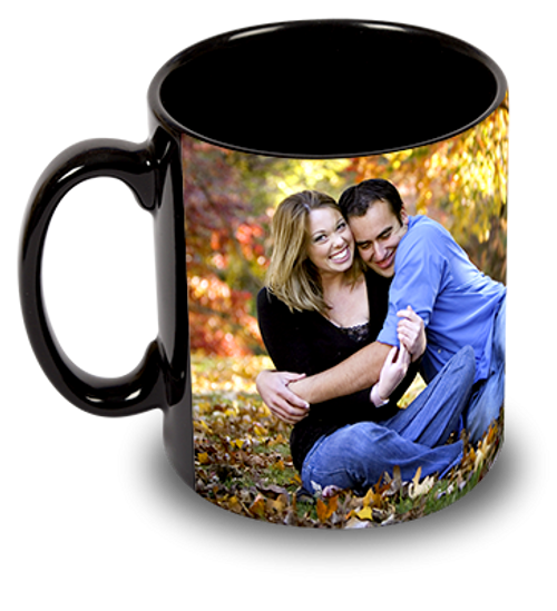 Custom Personalized 15oz Black Ceramic Mug w/ Your Photo's, Logo, Design