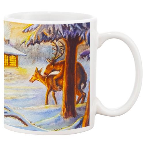 Cupid's Farewell Christmas/Humping Reindeer Mug