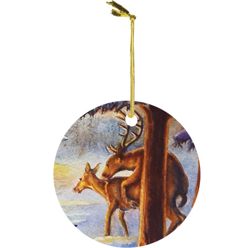 Cupid's Farewell Christmas/Humping Reindeer Ornament